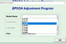 爱普生Epson L1119 L3109 L3118 L3119 L5198废墨清零软件及图解下载